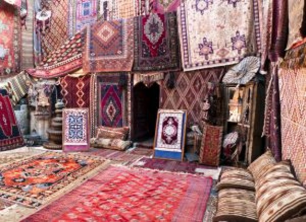 Nettoyage d'un tapis en soie